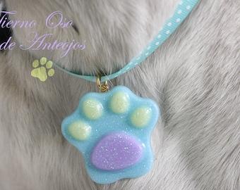 Fingerprint necklace made of pet resin