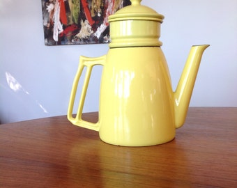 Mid Century coffee pot - cast iron - enamel - drip coffee pot - Descoware