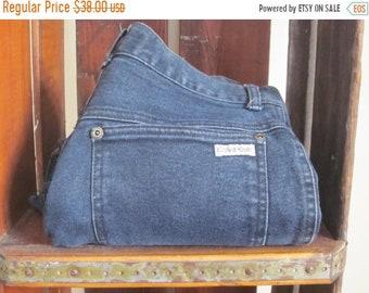 Calvin Klein / High Waisted Jeans / Jodhpurs / 80s Jeans / Dark Wash