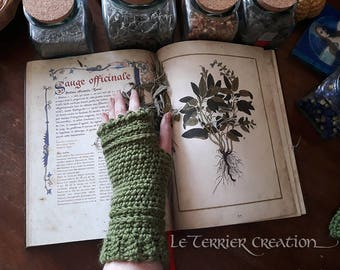 "Fingerless gloves crochet ""Lara"""