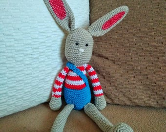 Crochet amigurumi long-ear rabbit