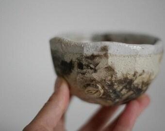 Faceted tea bowl, chawan