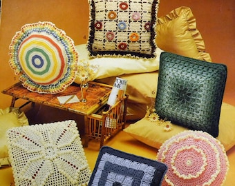 Crocheted Pillows from Leisure Arts Leaflet 282  Six Designs