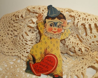Vintage Clown Valentine Mechanical