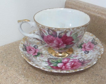 Full of Roses Cup and Saucer