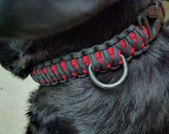 Two Color Paracord Dog Collar