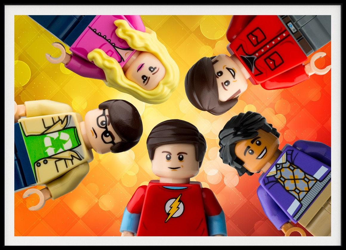 Lego Big Bang Theory Characters wall Art. Custom made wall