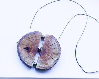 Wood Slice Necklace // Gifts for Him // Gifts for Her