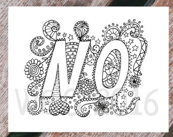 Printable Coloring Page - coloring page for adults - NO