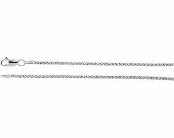 Sterling Silver Wheat Chain, 24 inches Long 1.8 mm  - CH971