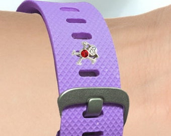 Fitness-Watch Charm, Birthstone Boys; Personalize your watchband with flair and style.