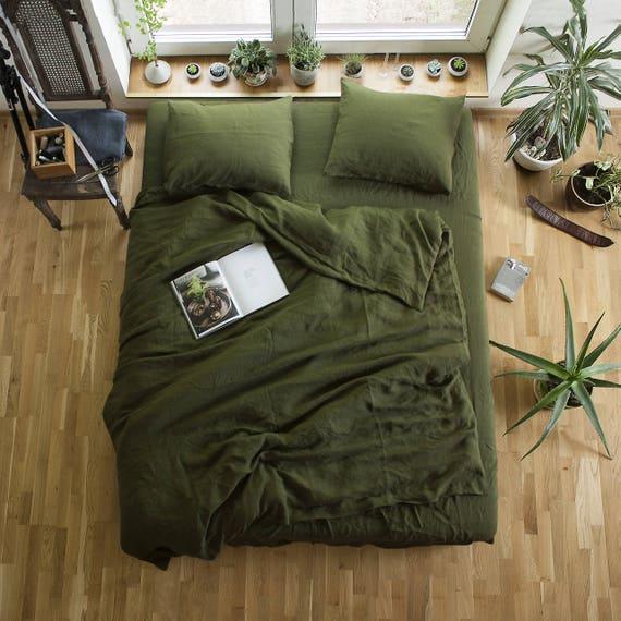 Green Linen Duvet Cover Custom Size Duvet Cover Green Linen : green quilt cover - Adamdwight.com