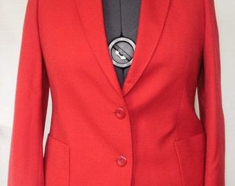 REDUCED! Vintage size 18 plus size red jacket