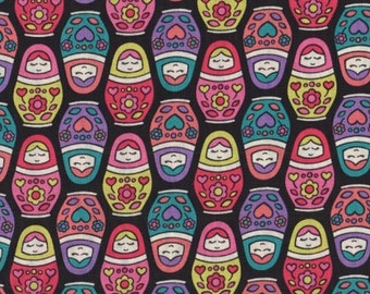 Timeless Treasures - Russian Dolls Fabric - Fun (Babki Tula Fabric) RARE - sold by the 1/2 yard