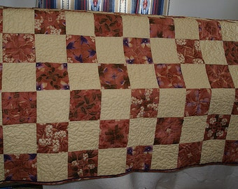 Four Patch Kaleidoscope Lap Quilt