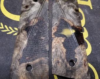 1911 Buckeye Burl Checkered
