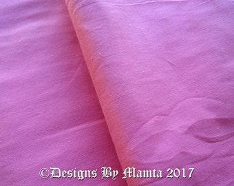 Rose Pink Dupioni Art Silk Fabric By Yard, Quilt Sewing Cherry Blossom Pink Fabric, Art Silk Fabric, Pink Art Silk Fabric, Indian Fabrics