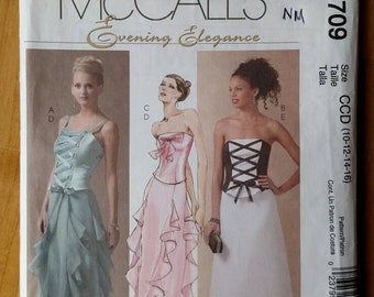 McCall's 4709 Formal Top & Skirt Sewing Pattern Sizes 10-16 UNCUT