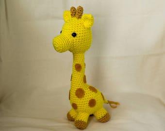 Amigurumi giraffe pattern : Baby giraffe instant download crochet pattern toy giraffe