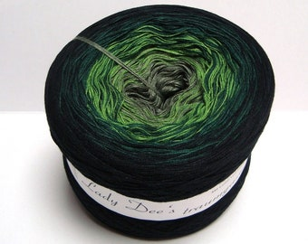 Gradient Yarn Green Shadow (9,98EUR/100g) poly-cotton 250 g for scarves and shawls