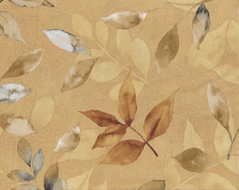 Neutral Nature - Per Yd - Wilmington Prints by Cynthia Coulter - Leaves