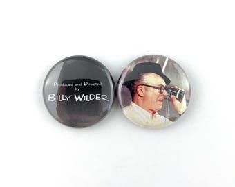 """Billy Wilder - 1"""" Button Pin Set"""