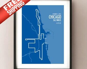 Chicago Marathon Print 2015