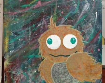 Galaxy Weirdo! 11x14 Original Acrylic Painting