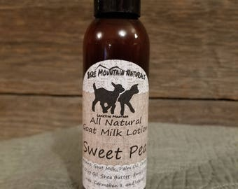 Sweet Pea fragrance, All Natural Goat Milk Lotion