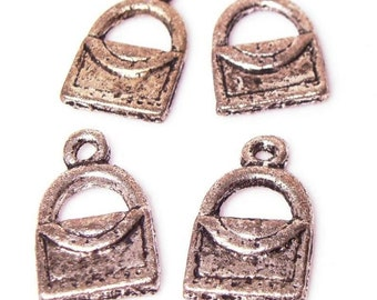 Purse Handbag Pocketbook Bag, Antiqued Charms, Destash - 4 pcs