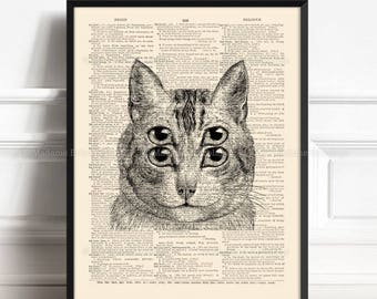 Optical Illusion Art, Funny For Cat Lover, Trippy Cat, College Dorm Room, Geeky Gifts For Him, Psychedelic Poster, College Student Gift 473