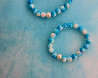 Ocean Blues - Glass Bead Bracelet