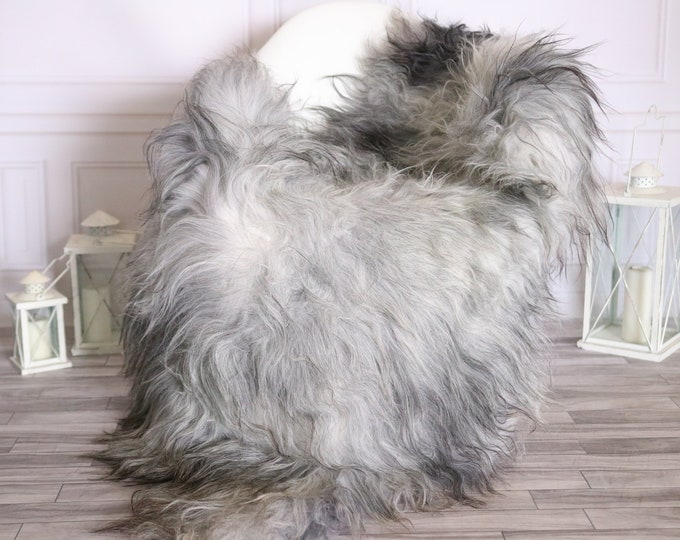 Icelandic Sheepskin | Real Sheepskin Rug |  Super Large Sheepskin Rug Gray| Fur Rug | Homedecor #MIHISL31