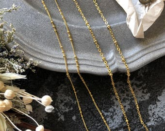 2 of 1M Plated 24-carat gold chains with beads