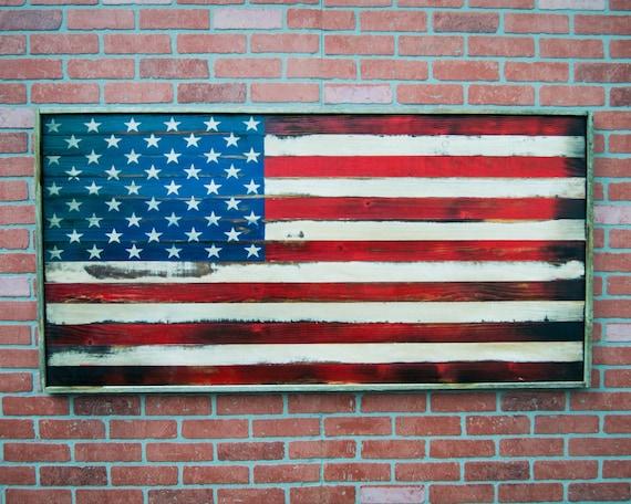 American Flag Wood / Wood American Flag / American Flag Wall Art // /  Rustic American Flag // US Flag // American Flag Art // Rustic US Flag