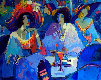 Acrylic on Canvas Original Unique Art Painting Signed by Isaac Maimon Winter is Coming