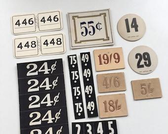 Vintage price tags Dennison labels