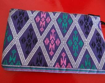 Purple cotton pouch
