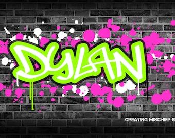 Personalised Graffiti Wall Art