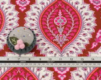 Imperial Paisley in Ruby from Alchemy by Amy Butler for Rowan Fabrics- Quilting Sewing Bohemian Style Organic Fabric By the Half Metre