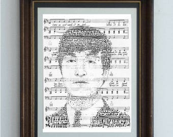 Portrait of John Lennon to the tune of his classic song Twist and Shout