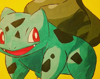 Bulbasaur Pokemon Acrylic hand painting