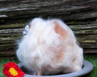 OOAK Needle Felted Pomeranian (now sold but can make one to order)