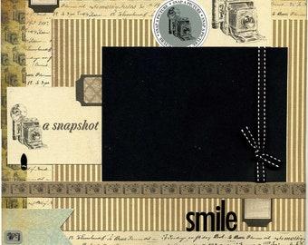 Smile - 12x12 Premade Scrapbook Page