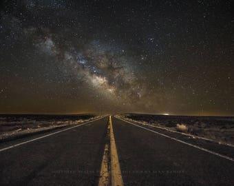 Night Sky Art, Arizona Art, Arizona Photography, Milky Way Photo, Milky Way Picture, Night Road, Arizona Pictures, Arizona Fine Art Print