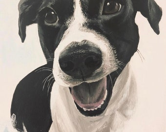 Custom Dog Portrait - Acrylic Painting