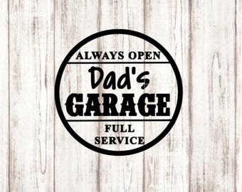 Dad's Garage Decal, Garage Decal, Gifts for Dad, Vinyl Decal, YETI Decal, Laptop Decal, Car Decal, Computer Decal