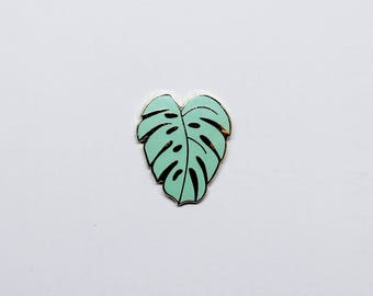 Monstera Leaf Lapel Pin | Green