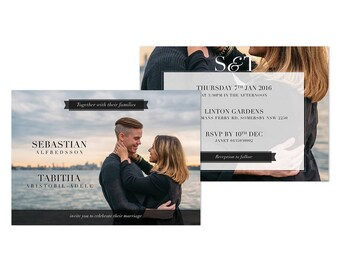 Wedding Photo Invitations Printable Wedding Invitation with Photo Digital Design