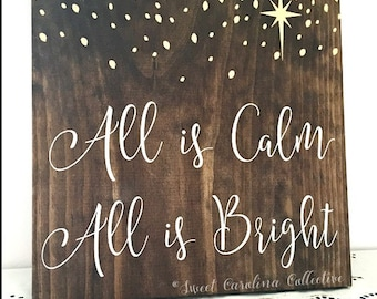 All is Calm All is Bright Holiday Sign HD-27